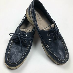 Sperry Top-Sider Boat Shoes Navy Leather Loafer